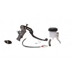 KIT Pompa Freno Radiale ACCOSSATO Leva Snodata + Supporto Specchio + Idrostop + Vaschetta 30ml