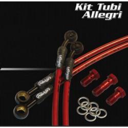 KIT TUBI IN TRECCIA ALLEGRI raccordo in ottone PER APRILIA RSV1000 factory /R