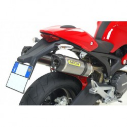 TERMINALI ARROW STREET THUNDER ALLUMINIO FONDELLO INOX per DUCATI Monster 696 '08/14 E Monster 796 '10/14 + RACCORDI