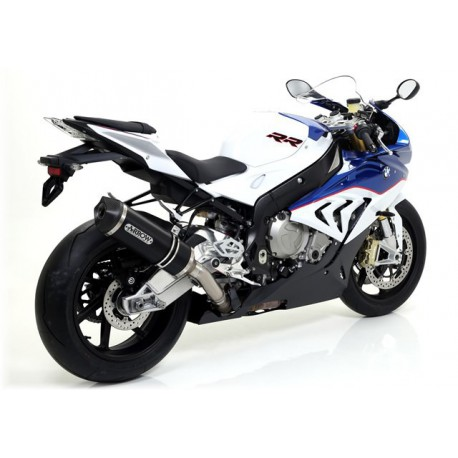 TERMINALE ARROW RACE TECH ALLUMINIO DARK FONDELLO CARBY per BMW S1000RR 2015 OMOLOGATO