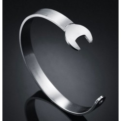 BRACCIALE RIGIDO chiave inglese acciaio lucido